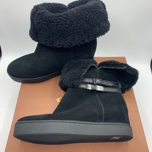 Coach Women's Norell Suede/Shearling Boot Size 7 M